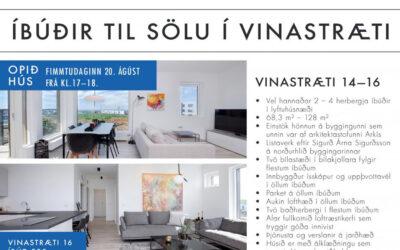 Framkvæmdum í Vinastræti að ljúka, 6 óseldar íbúðir